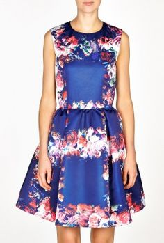 Floral Silk Duchess Dress by MSGM    I REALLY LOVE THIS NEWISH LABEL.  THIS DRESS IS SO SWEET.  IF I WENT TO GARDEN PARTIES, I'D KNOW WHAT TO WEAR.