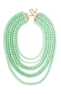 check out the teal color ...BaubleBar 'Bold' Multistrand Beaded Statement Necklace available at #Nordstrom