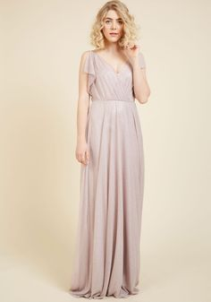Enter Ethereal Maxi Dress - Blush, Solid, Buttons, Ruching, Special Occasion, Prom, Wedding, Bridesmaid, Homecoming, Wedding Guest, Boho, Vintage Inspired, 30s, Luxe, Statement, Fairytale, A-line, Maxi, Spaghetti Straps, Long, Exceptional, V Neck, Woven
