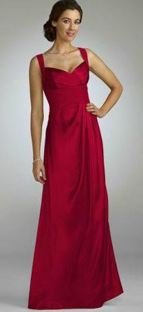 red bridesmaids dress..has an open criss cross back