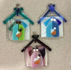 Fused Glass Nativity Ornament by ChristaLynCole on Etsy