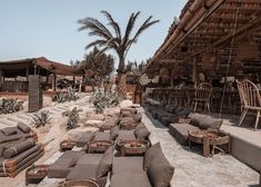 San Giorgio (SOHO ROC House) is one of the top hotels in Mykonos because of its perfect location, the beautiful outdoor space and bohemian aesthetic. Mykonos Hotels, Mykonos Greece, Crete Greece, Athens Greece, Tulum, Algarve, Big Pools, Beach Cafe, Outdoor Restaurant
