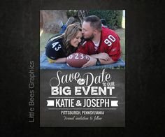 Click here to see all of our designs!  25 Sports Chalkboard Save the Date Magnets by LittleBeesGraphics