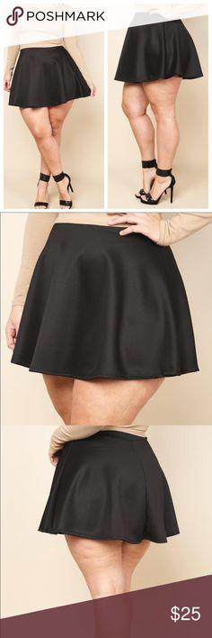 Plus size skater skirt. New Plus size skater skirt. Hemmed line. New Skirts Circle & Skater