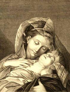 Francesco Bartolozzi (1727-1815)  Engraving after Giovanni Battista Salvi (Sassoferrato)  British Museum