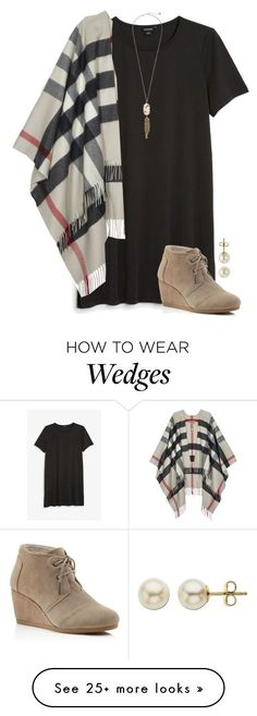 """""""Joy comes in the morning, Psalms 30:5"""" by amberfmillard-1 on Polyvore featuring Monki, Burberry, TOMS, Lord & Taylor and Kendra Scott"""