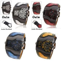 Fashion Military Army Two Time Zones Movements Watch