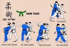 Judo and Jiu jitsu techniques — Stock Vector © Fernando García ...