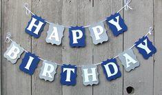Happy Birthday Banner Birthday banner Dallas by PrettyPartyPaperie