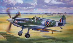 Supermarine Spitfire MkVB del as polaco Jan Zambach. Roy Cross. Más en www.elgrancapitan.org/foro/