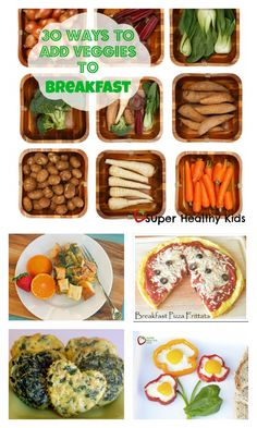 30 Ways to Add Veggies to Breakfast - Veggies for breakfast?  Yes! Your kids will love these breakfast ideas, trust us! http://www.superhealthykids.com/30-ways-to-add-veggies-to-breakfast/