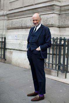 Todo un gentleman! El detalle de los calcetines es genial!