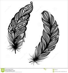 Oiseau Abstrait De Plume Illustration de Vecteur - Image: 38920257