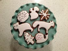 Gingerbread Forest Animals (ikea cookie cutters)