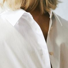 White Shirts on Women. Inspired by White Shirts, Chef Jackets, Style Inspiration, Coat, Mothers, Sisters, How To Wear, Inspired, Detail