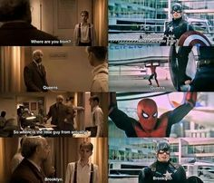 Loved this part! I was sad they fought, spider-man really looked up to Cap