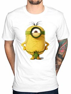 Official Minions Good To Be King-Camiseta Kevin Stuart Bob blanco medium #camiseta #starwars #marvel #gift