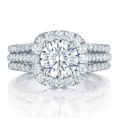 Tacori Engagement Rings Crescent Diamond Halo, available online & in our showroom. Shop now for the perfect gesture.