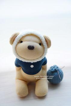 Grace--#380 sock Honey Bear