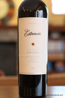Estancia Reserve Meritage 2009 - Sweet oak and rich fruit wrapped up in a smooth package. Make Mine A Meritage Wine 7. #winelover