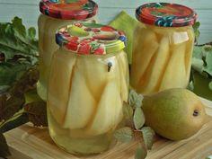 Gruszki w syropie do słoików   KuchniaMniam Cucumber, Jar, Food, Food And Drinks, Essen, Meals, Yemek, Zucchini, Jars