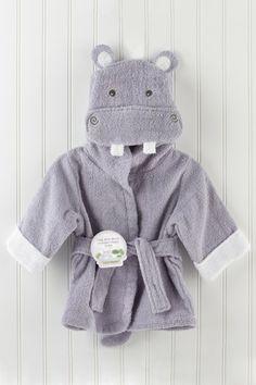 Baby Aspen - Hug-alot-amus Hooded Hippo Robe