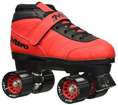 Speed Roller Skates - New 2016 Epic Nitro Turbo Red Indoor Outdoor Quad Roller Speed Skates w 2 Pair of Laces Red Black -- You can find more details by visiting the image link. Speed Roller Skates, Speed Skates, Best Gifts For Tweens, Best Longboard, Kids Skates, Tween Girl Gifts, Best Scooter, Sports Toys, Roller Skating