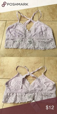 Aerie lace bralette NWT.  Aerie light lavender lace bralette. aerie Intimates & Sleepwear Bras