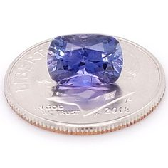 Violet Blue Sapphire 0.75 Ct Natural Eye Clear /& Vivid Color