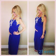 23 weeks pregnant maxi bubble necklace fashion pregnancy