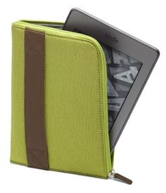 Amazon Kindle Zip Sleeve, Lime (fits Kindle Paperwhite, Kindle, and Kindle Touch) by Amazon. $19.99. Amazon.com                  Amazon's Kindle Zip Sleeve Protect Your Kindle   Our stylish nylon sleeve provides optimal protection for your Kindle while you're on the go. The lightweight material, slim profile, and zipper closure make it easy to quickly and securely stow your device in any bag or purse. The fully enclosed design ensures that your Kindle is protected ...