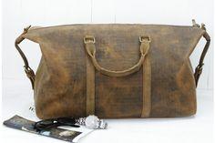 63aa39f3d9 Scaramanga Vintage Leather Weekend