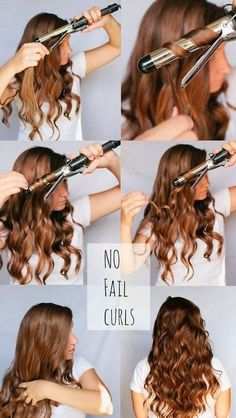 how to curl hair with a curling iron and make it stay - Google Search