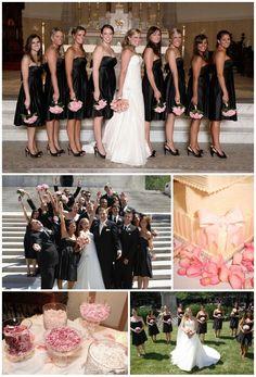 Blush pink and black wedding ideas