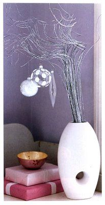 This is a great Christmas decoration for a small space.  But different colors could be used for any holiday.  Red, white, and blue for the 4th of July; pink or blue for a baby shower or a birthday; orange, brown, and gold for Thanksgiving...the list is endless.