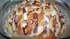 Starý chlieb už neobaľujem vo vajíčku, toto je stokrát lepšie: Zoberte kyslú smotanu a celý bochník – o pol hodinu hody ako lusk! Baked Potato, Muffin, Food And Drink, Pudding, Bread, Cooking, Breakfast, Ethnic Recipes, Minden