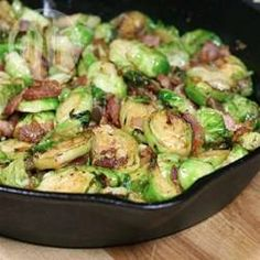 Browse more than vegetable side dish recipes. Find recipes for green bean casseroles, sweet potato fries, grilled corn and much, much more. Easy Vegetable Side Dishes, Vegetable Sides, Veggie Dishes, Food Dishes, Sprout Recipes, Vegetable Recipes, Fried Brussel Sprouts, Brussels Sprouts, Cooking Recipes