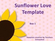 Free this free powerpoint template is simple classic and great for sunflower love powerpoint template free commercial and personal use by teachers unleashed toneelgroepblik Image collections