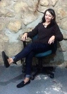 Caro con mocasines negros. Super cómodos! www.candeladc.com para compras online!