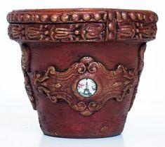 Altered terracotta pot