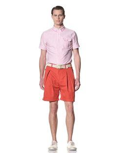 69% OFF General Idea Men's Classic Pleat Shorts (Red)