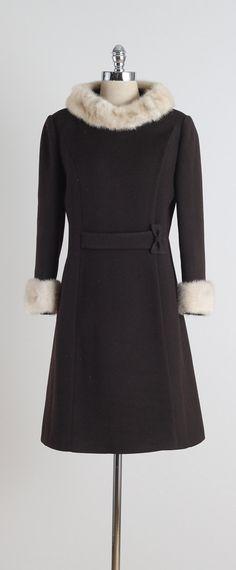 Chocolate Mink . vintage 1960s coat . vintage by millstreetvintage