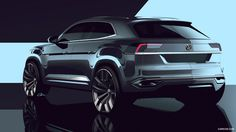 2015 Volkswagen Cross Coupe GTE Concept - Design Sketch, of 43 Car Design Sketch, Car Sketch, Supercars, Design Autos, Design Cars, Volkswagen, Exterior Rendering, Exterior Design, Automobile
