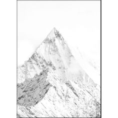 White mountain, poster ❤ liked on Polyvore featuring home, home decor, wall art, modern poster, modern home accessories, modern home decor and modern wall art