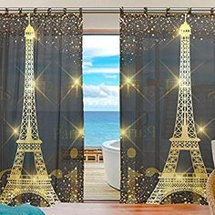 """Swiss Voile Modern Style Luxury Door Panel Eyelet Top Door Curtains 55/""""x86/"""" Size"""