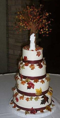fall wedding cake ideas | several wedding cake ideas with instructions