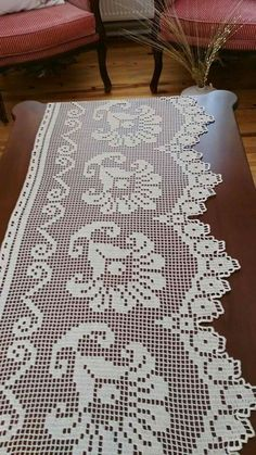 Discover thousands of images about Pike Crochet Patterns Filet, Crochet Borders, Doily Patterns, Filet Crochet, Crochet Designs, Crochet Home Decor, Crochet Art, Thread Crochet, Love Crochet