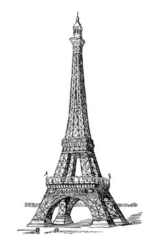 Get the coloring page: Eiffel Tower