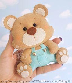 Felt Animal Patterns, Stuffed Animal Patterns, Bear Felt, Felt Banner, Felt Crafts Diy, Bear Birthday, Felt Decorations, Felt Christmas Ornaments, Montessori Toys