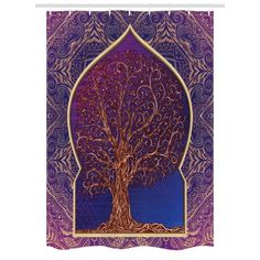 Indian Tapestry Decor by Ambesonne, Tree with Curved Leafless Branches Middle Eastern Moroccan Arch Retro Art Design, Wall Hanging for Bedroom Living Room Dorm, Inches, Purple Blue Tapestries For Guys, Retro Art, Retro Room, Indian Tapestry, Tapestry Wall Hanging, Room Tapestry, Valentines Day Decorations, Moroccan Decor, State Art